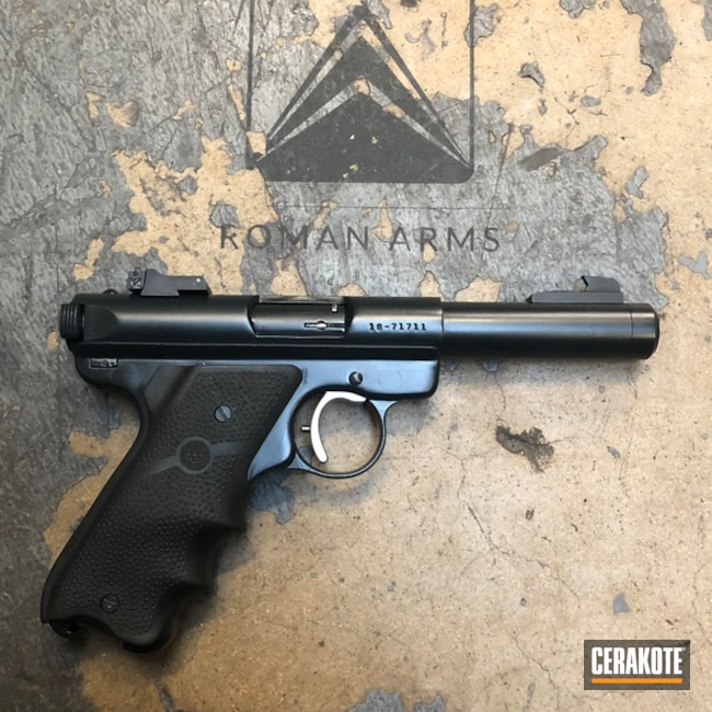 Ruger MKII Restored in Cerakote E-110 Midnight