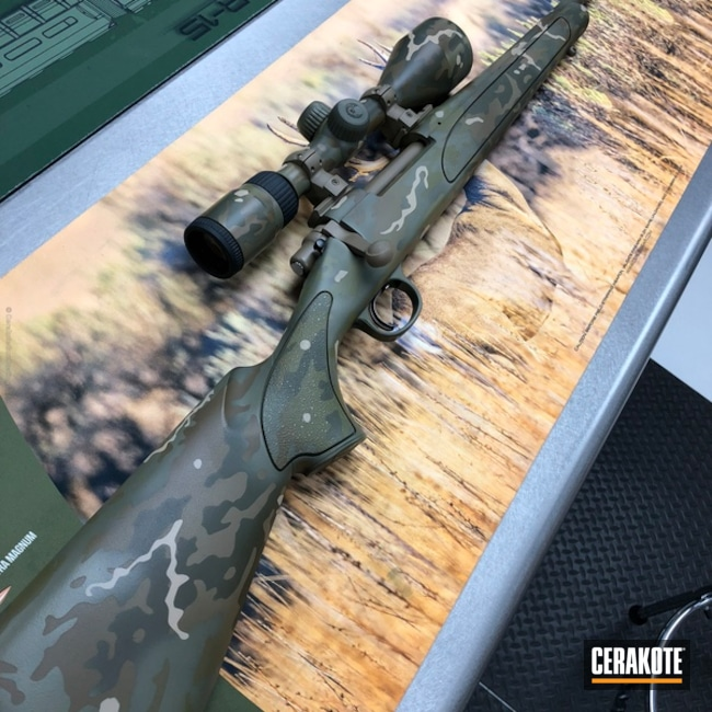 Remington Bolt Action Rifle done in a Cerakote MultiCam Finish
