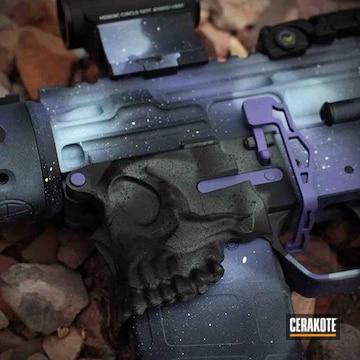 Cerakoted Cerakoted Galactic Themed Spike's Tactical Rifle