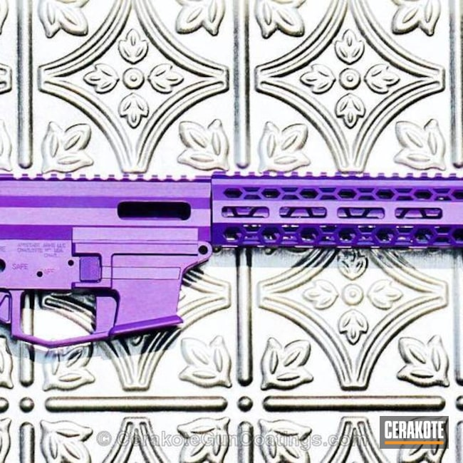 "Thumbnail image for project ""AR-15 Upper / Lower / Handguard Cerakoted in H-217 Bright Purple"""