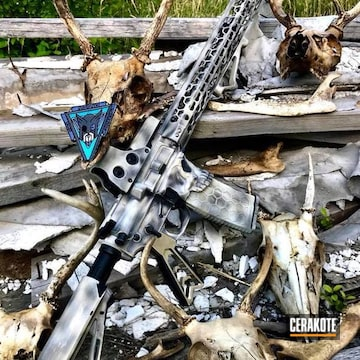 Cerakoted Tactical Rifle In A Custom Cerakote Finish