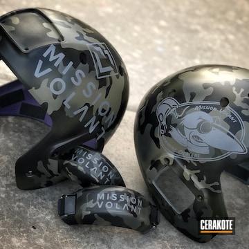 Cerakoted Custom Helmets Cerakoted In A Multicam Finish