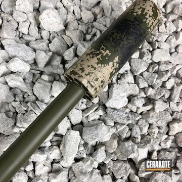 Cerakoted H-190 Armor Black, H-236 O.d. Green And C-211 Desert Sand