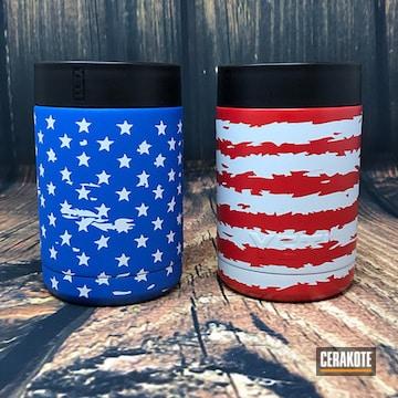 Cerakoted Custom Yeti Colsters Coated In A Cerakote American Flag Theme