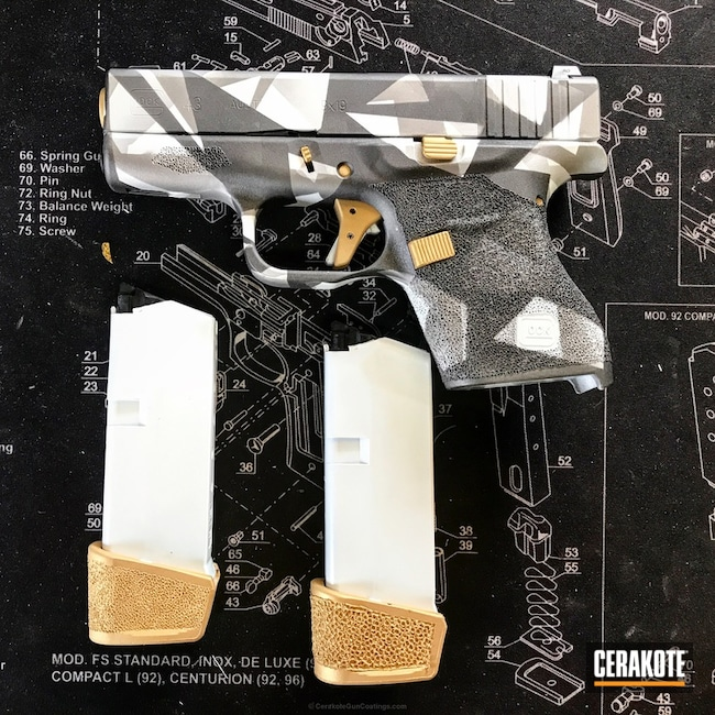 "Thumbnail image for project ""Glock 43 Cerakoted in a Custom Splinter Camo Finish"""