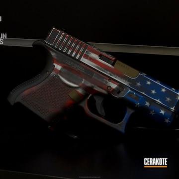 Cerakoted Glock 26 Handgun Cerakoted In A Dual American And Texas Flag Finish