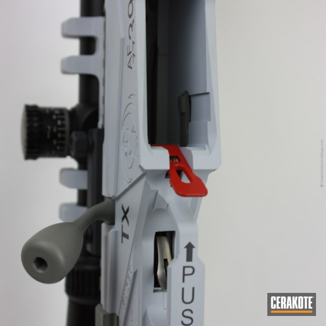 "Thumbnail image for project ""Ruger Bolt Action Rifle Cerakoted in a USAF Themed Finish"""