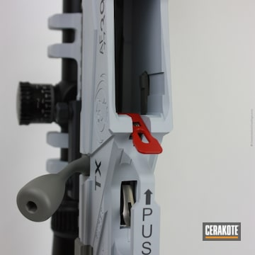 Cerakoted Ruger Bolt Action Rifle Cerakoted In A Usaf Themed Finish