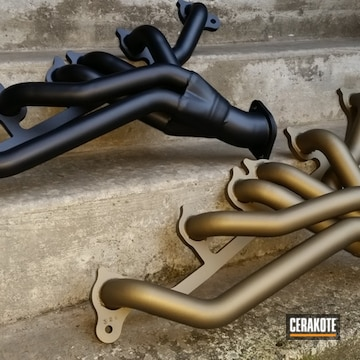 Cerakoted Jeep Exhaust Headers Coated In Cerakote C-7800 And C-7600