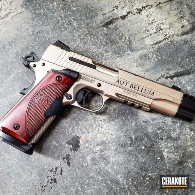 Sig Sauer 1911 coated in H-146 Graphite Black