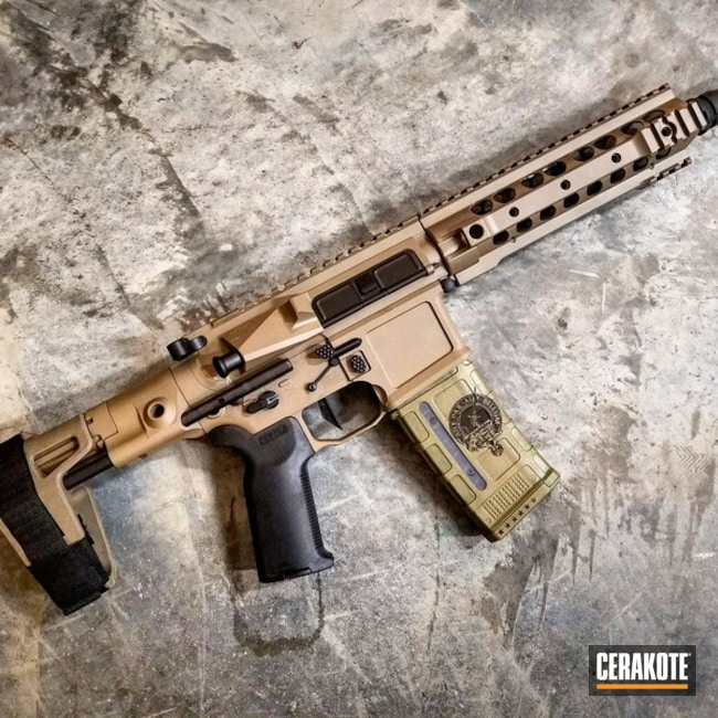 SBR coated in H-267 MagPul Flat Dark Earth