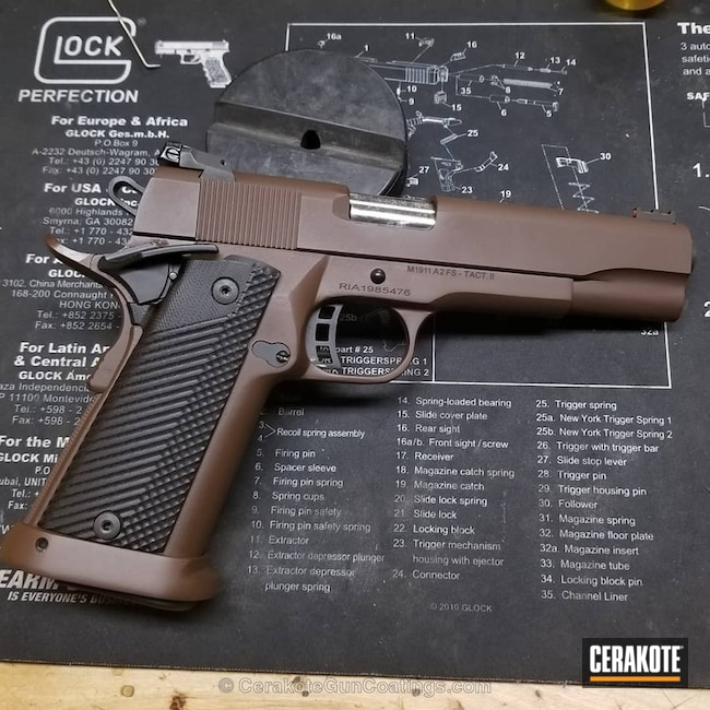 Cerakoted 1911 Handgun Coated In H-259
