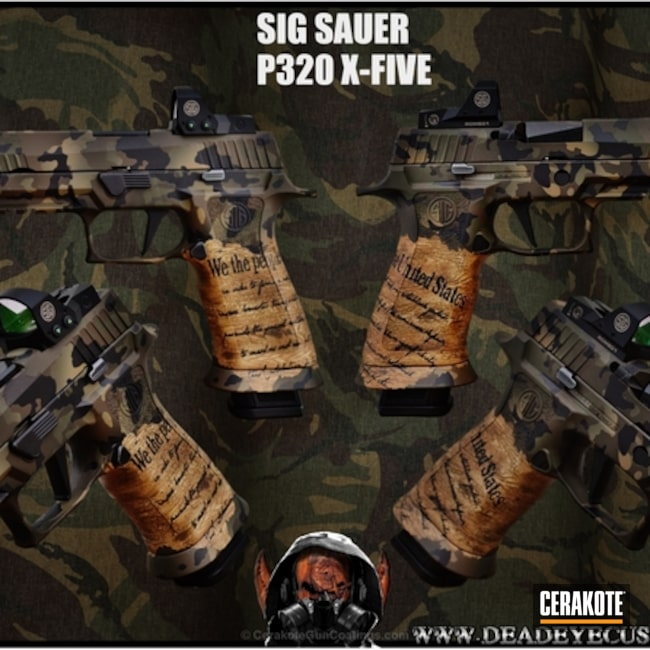 "Thumbnail image for project ""Sig Sauer P320 Handgun coated in a Custom MultiCam and We The People Finish"""