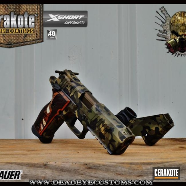 "Thumbnail image for project ""Sig Sauer Handgun coated in a Custom MultiCam Finish"""