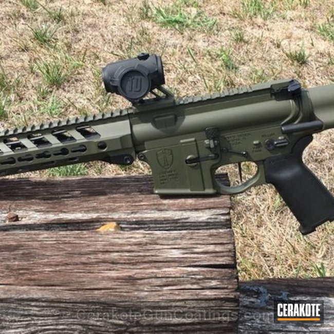 Spike's Tactical Crusader Rifle with a H-240 Mil Spec O.D. Green Cerakote Finish