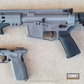 Cerakoted Ar Pistol Coated In Cerakote H-237 Tungsten