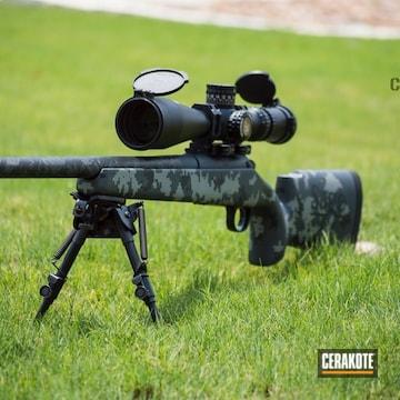 Cerakoted 6.5 Creedmoor Rifle In A Digital Camo Cerakote Finish