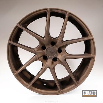 Cerakoted Wheels Cerakoted In H-294 Midnight Bronze