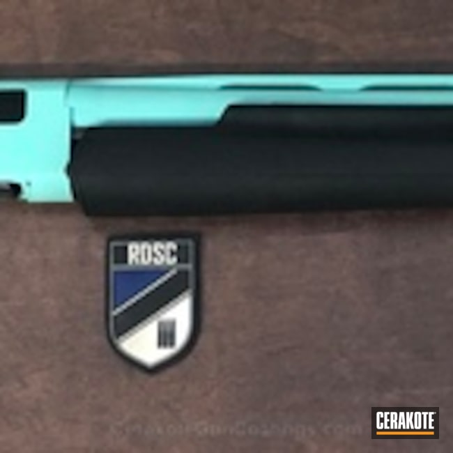 Winchester Shotgun coated in H-175 Robin's Egg Blue