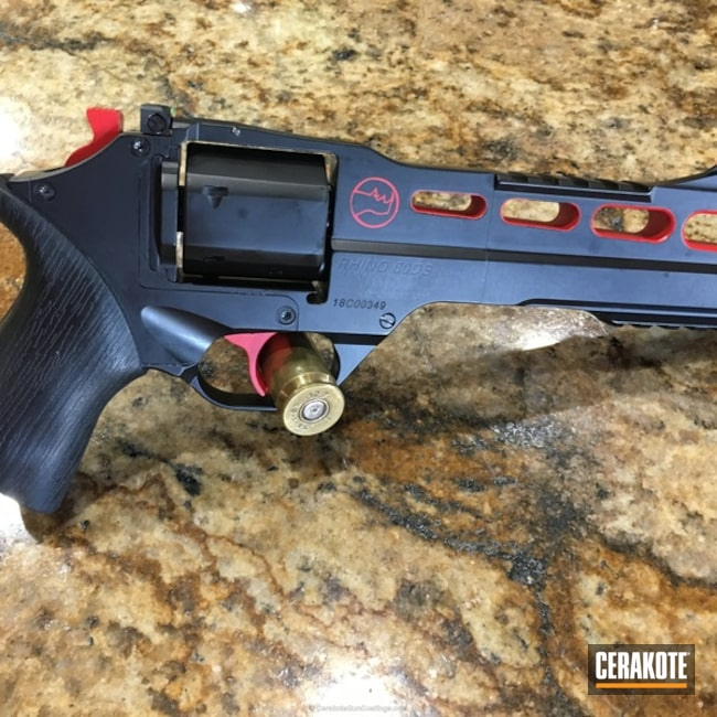 Revolver Coated in Cerakote H-146 and Cerakote H-167