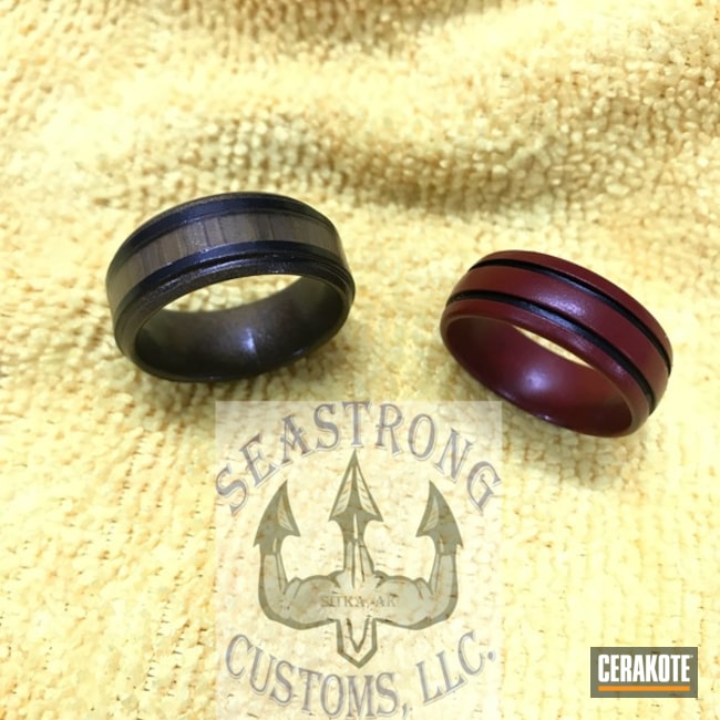 "Thumbnail image for project ""Refinished Rings in Cerakote H-148 and Cerakote H-221"""