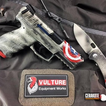Cerakoted Hkvp9 Handgun Finished In A Custom Themed Battleworn Finish