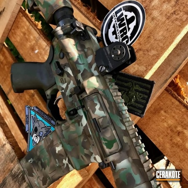 Tactical Rifle Cerakoted in a Custom MultiCam Finish