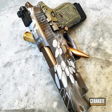 Cerakoted Sig Sauer Handgun Finished In A Custom Punisher Kryptek Pattern
