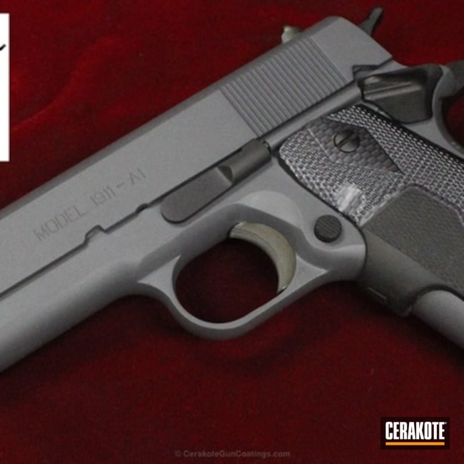 Springfield 1911 A1 in a Cerakote H-234 and H-146 Finish