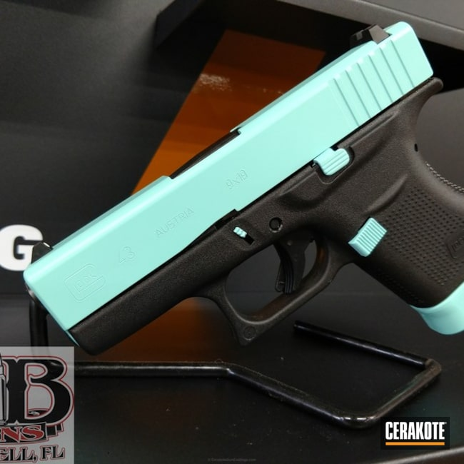 Two Toned Glock 43 Cerakoted in H-175