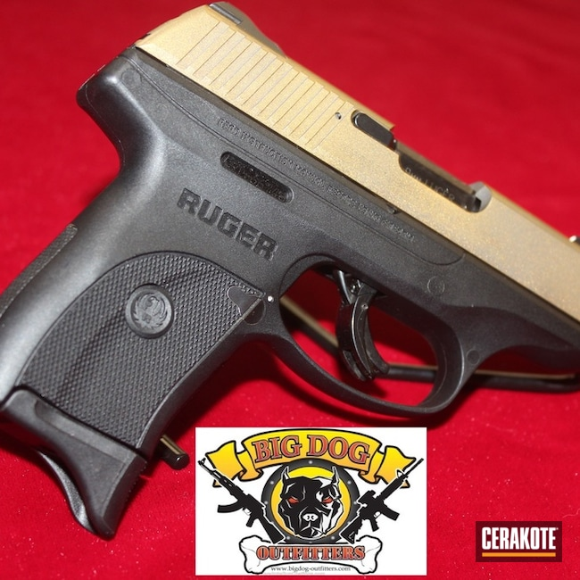 Ruger LC9S Cerakoted in High Gloss Armor Clear H-300