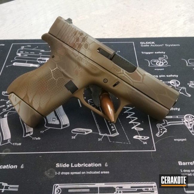 Glock Handgun Cerakoted in a Custom Kryptek
