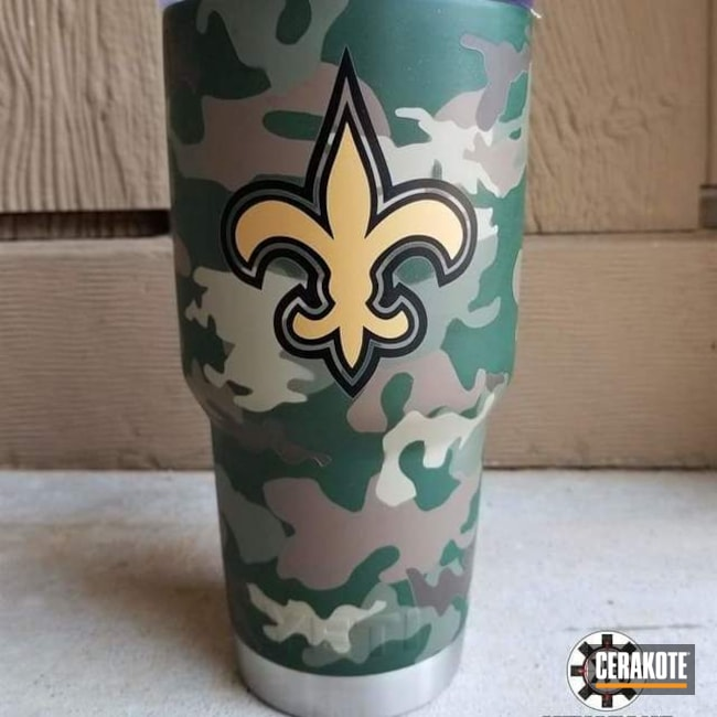 Custom Tumbler Cup done in a MultiCam Cerakote Finish