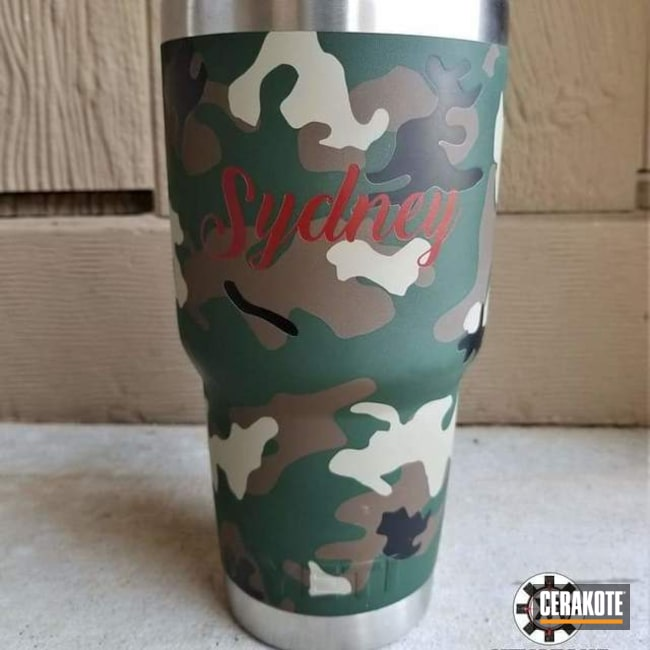 YETI Tumbler Cup in a Cerakote MultiCam Finish