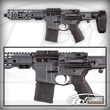 Cerakoted Custom Sbr Build Cerakoted In H-234 Sniper Grey
