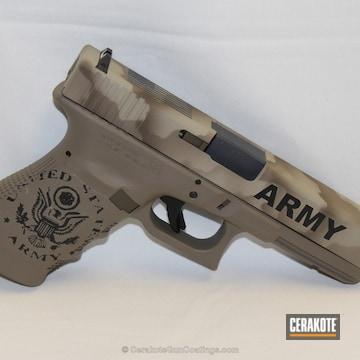 Cerakoted Glock Cerakoted In A Us Army Inspired Finish