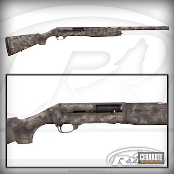 Cerakoted Benelli Shotgun Coated In Cerakote H-146, H-199 And H-240