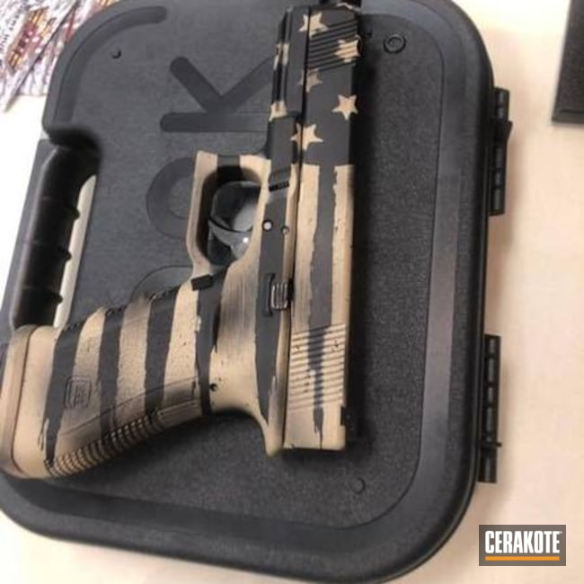Glock 17 in American Flag Theme Cerakote