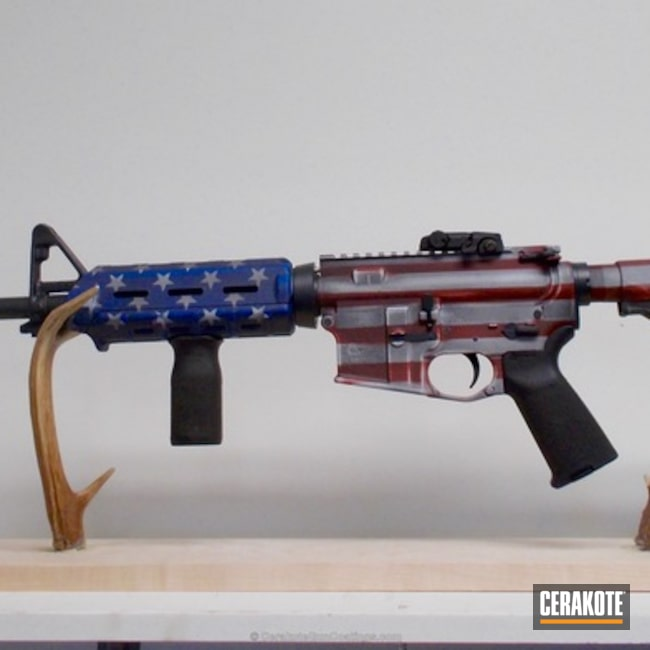 Battleworn American Flag Rifle