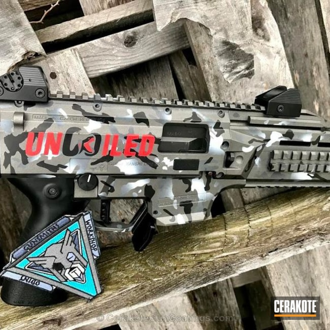 Custom CZ Pistol with Cerakote Urban Camo