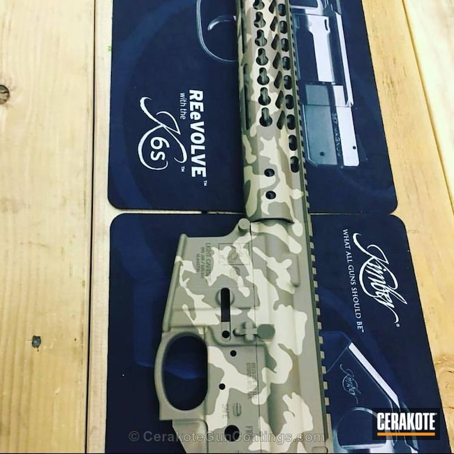 MultiCam Camo using Cerakote on an AR-15