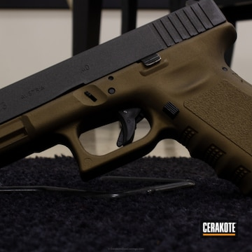 Cerakoted Glock Coated In Cerakote H-148 And H-112