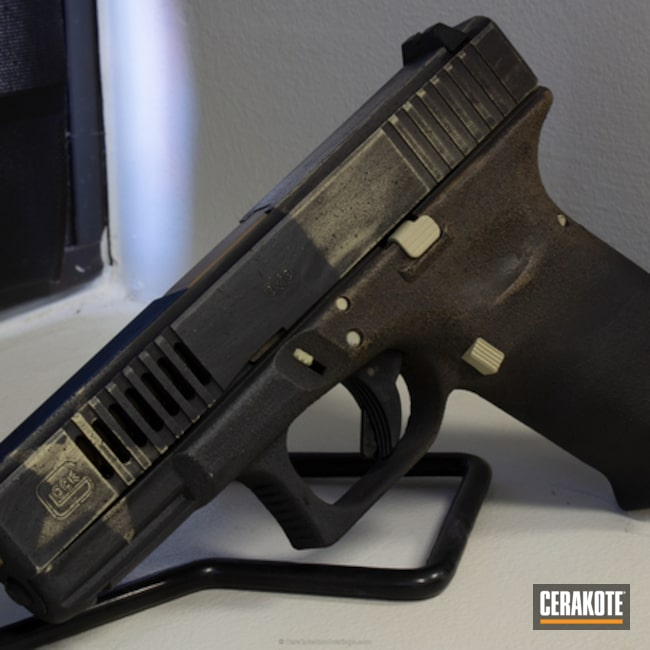 Glock 19 Handgun coated in H-143, H-234 and H-7504M