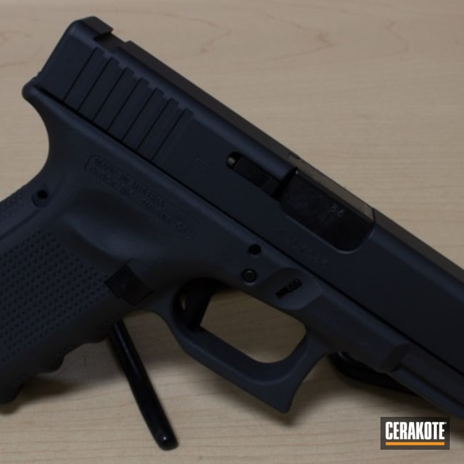 Glock Cerakoted in H-234 Sniper Grey