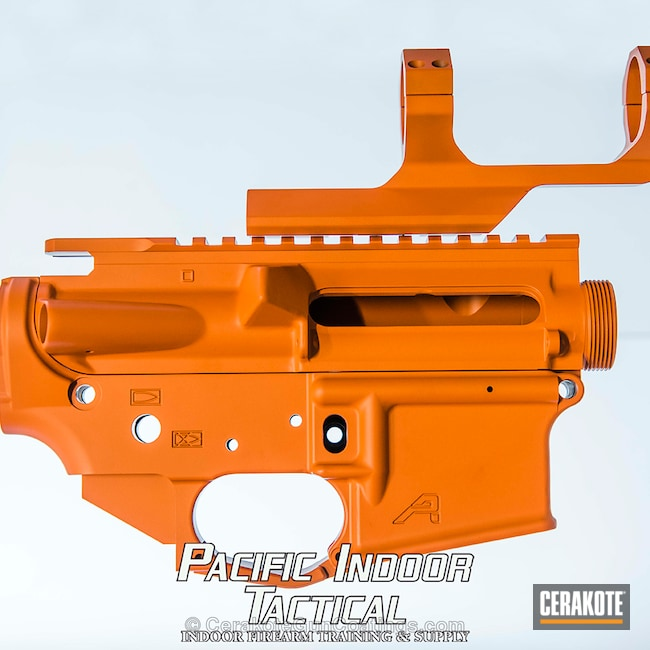 "Thumbnail image for project ""Custom Mixed Cerakote Orange on this Aero Precision Upper / Lower"""