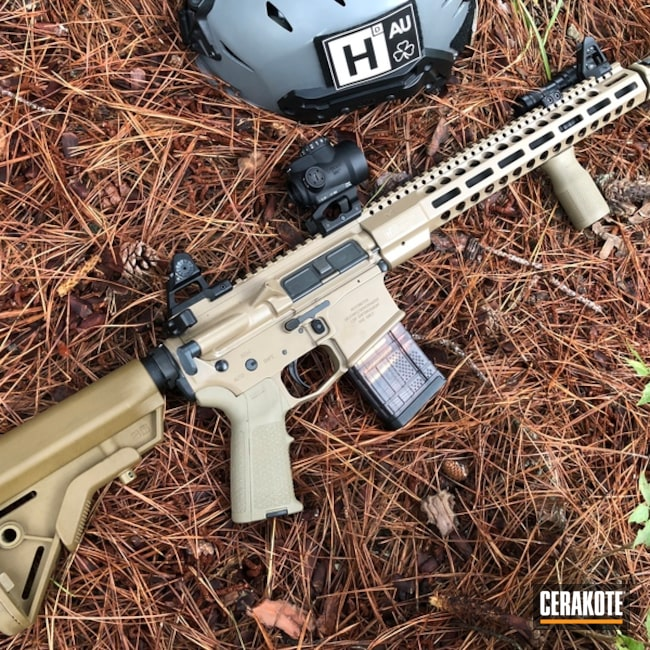 Cerakote Elite Coyote on a Hodge Defense Systems Mod2