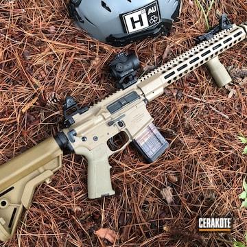 Cerakoted Cerakote Elite Coyote On A Hodge Defense Systems Mod2