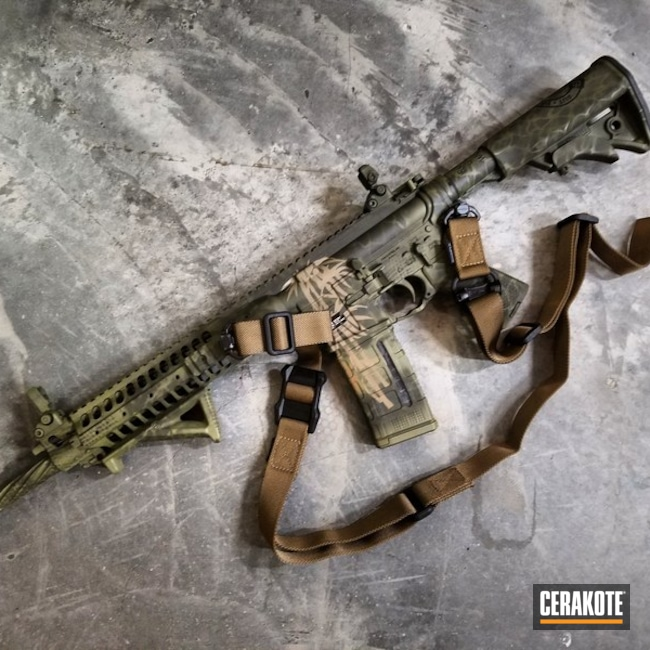 LWRC International AR-15 in a Freehand Cerakote Camo Finish