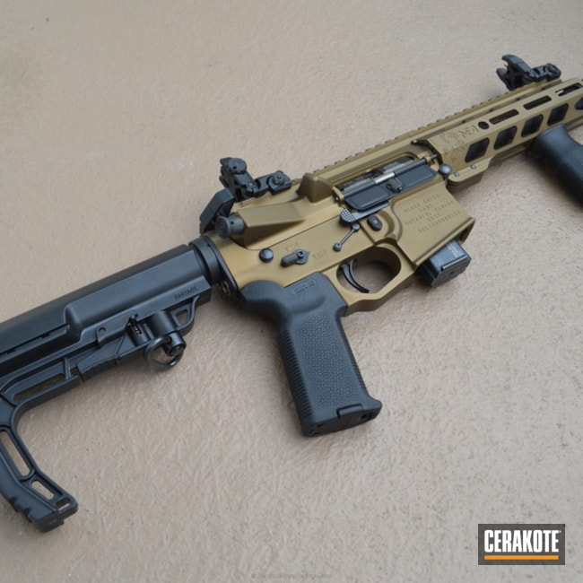 Tactical Rifle in a Two Tone Cerakote Finish