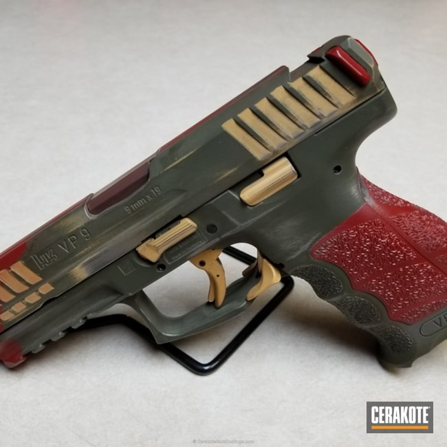 Custom Cerakote Finish on this Boba Fett Themed HKVP9 Handgun